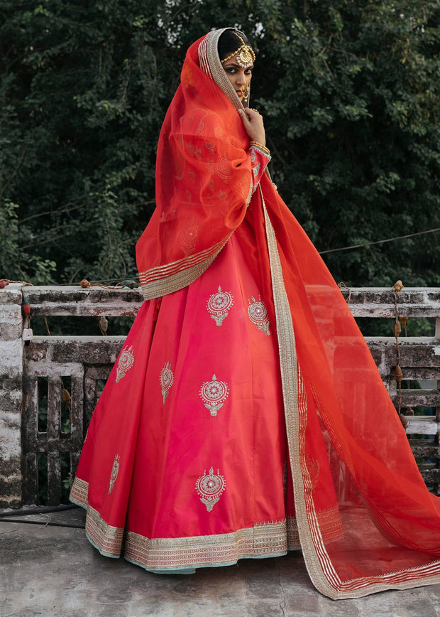 Indian Bridal Dress for Wedding in Froke Style