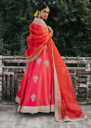 Indian Bridal Dress for Wedding in Froke Style Side Pose
