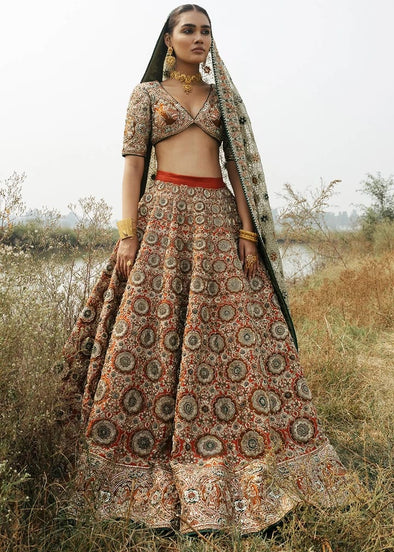 Indian Bridal Ghaghra Choli in Stylish Design for Wedding