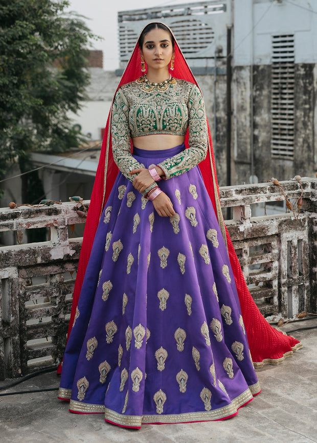 Indian Lehnga Choli for Bride in Elegant Style Front Look