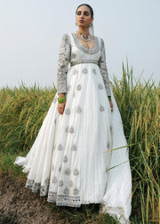 Indian Long Maxi in White Color for Wedding