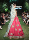 Indian Red Lehnga with Choli for Wedding Model Walk