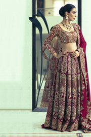 Stunning Full Flared Indian Wedding lehenga