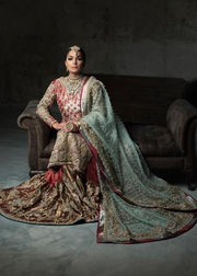Beautiful Indian bridal gharara dress embroidered for wedding wear # B3393