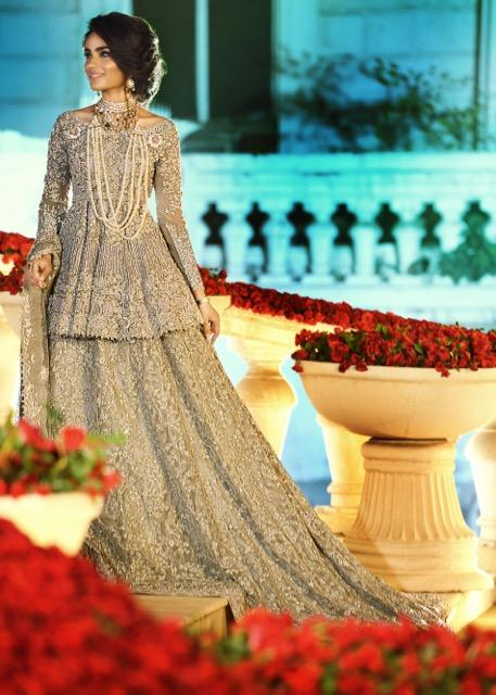 Latest Indian bridal outfit fully embroidered in lavish ivory color