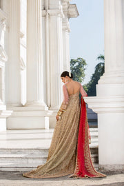 Beautiful Indian designer bridal dress in pink and red color # B3343