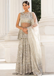 Beautiful Indian designer bridal outfit in lavish ivory color