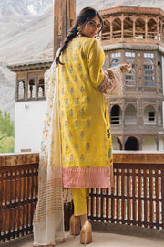 Beautiful Indian masuri embroidered dress in yellow color # P2380
