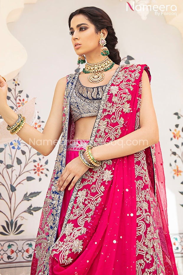 Jacket Lehenga Choli Bridal Dress Pakistani