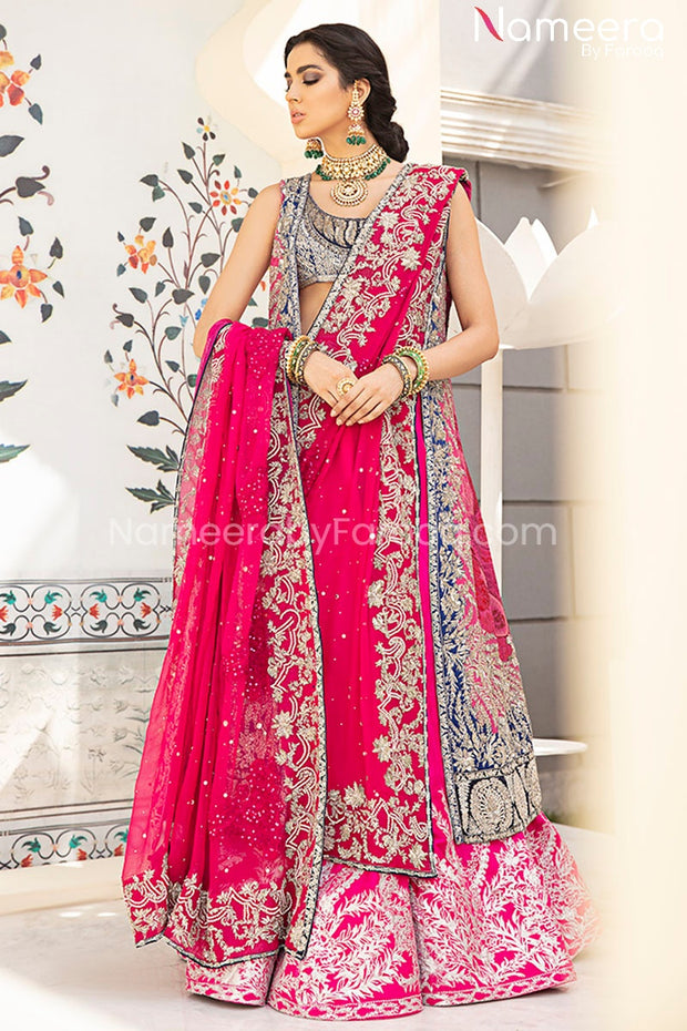 Jacket Lehenga Choli Bridal Dress