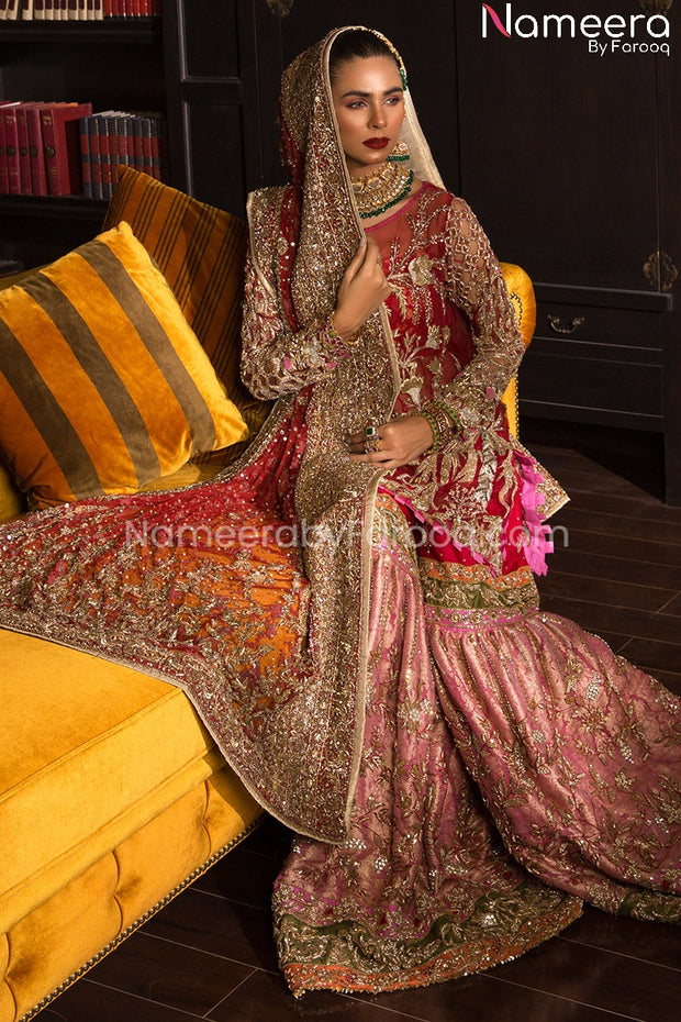 Jamawar Sharara for Mehendi