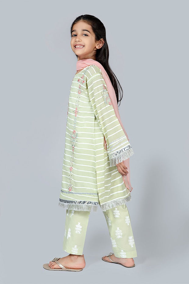 Kids Eid Shalwar Kameez Side Pose