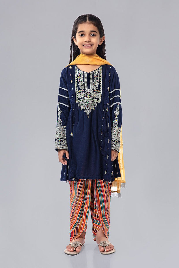 Kids Latest Eid Dress in Blue Color
