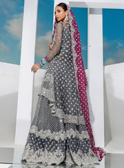 Latest Bridal Peplum Lehnga Backside Look