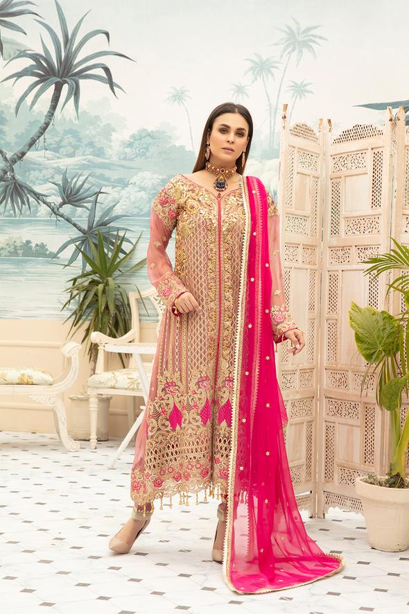 Latest Chiffon Eid Dress 2020 for Women Overall Look