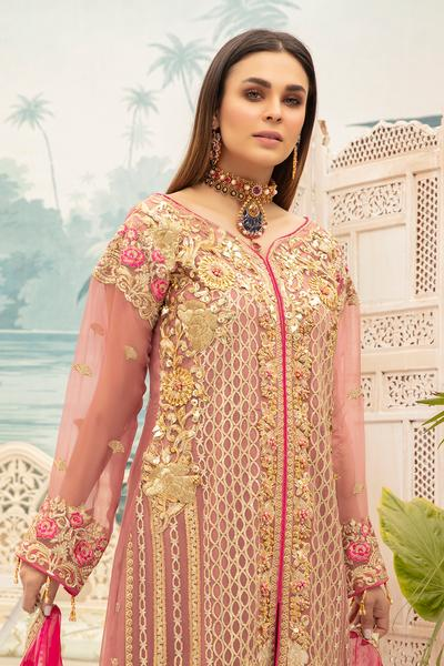 Latest Chiffon Eid Dress 2020 for Women Close Up