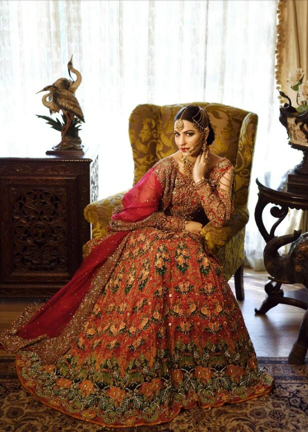 Latest Designer Bridal Outfit in Orange Red Color #N7065