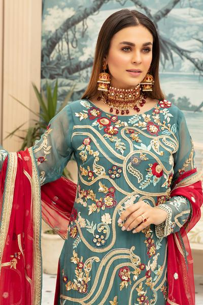 Latest Designer Chiffon Wear for Eid Close Up