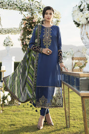 Latest Designer Party Outfit in Blue Color