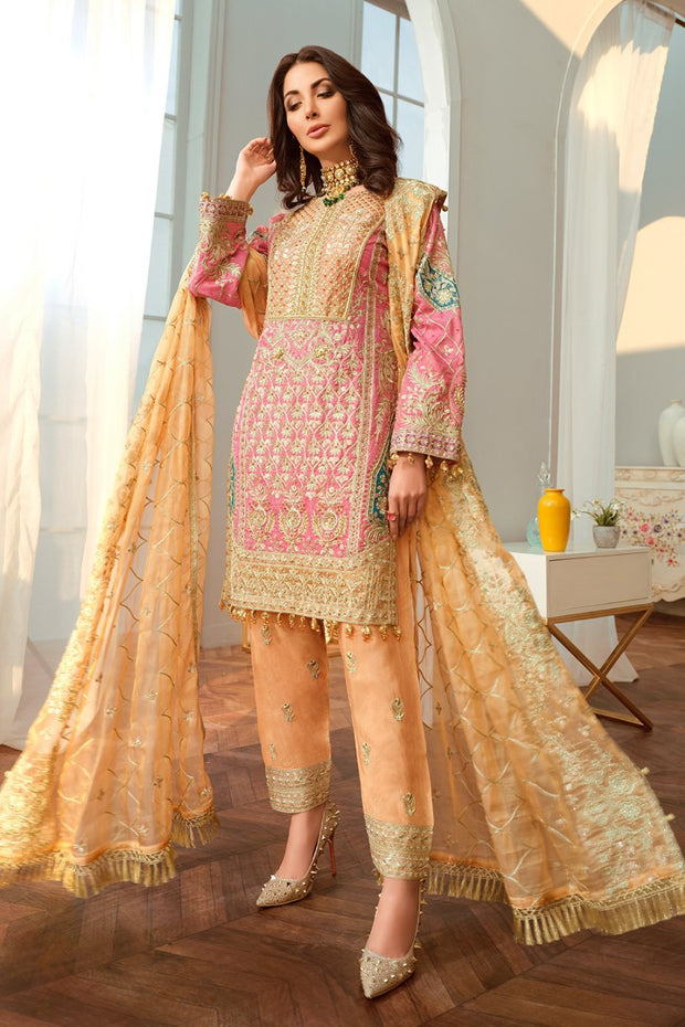 Latest Embroidered Chiffon Party Outfit