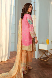 Latest Embroidered Chiffon Party Outfit  Backside Look