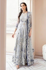 Latest Festive Maxi Frock in Sky Blue Color