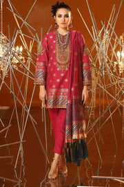 Latest Jacquard Eid Outfit in Magenta Color