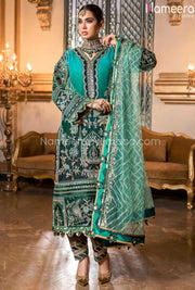 Latest Pakistani Chiffon Dress for Wedding Party