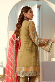 Latest Pakistani Chiffon Outfit in Copper Color Backside