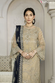 Latest Pakistani Dress Chiffon for Wedding Party Overall Look