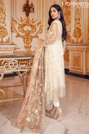 Latest Pakistani Dress Online for Wedding Party Backside Look