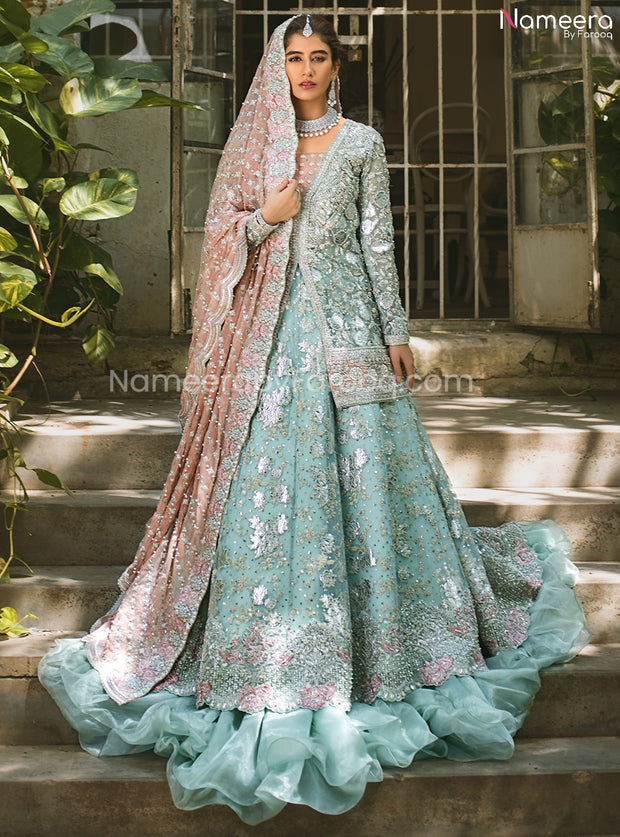 Latest Pakistani Lehenga Design for Walima 2021 Overall Look