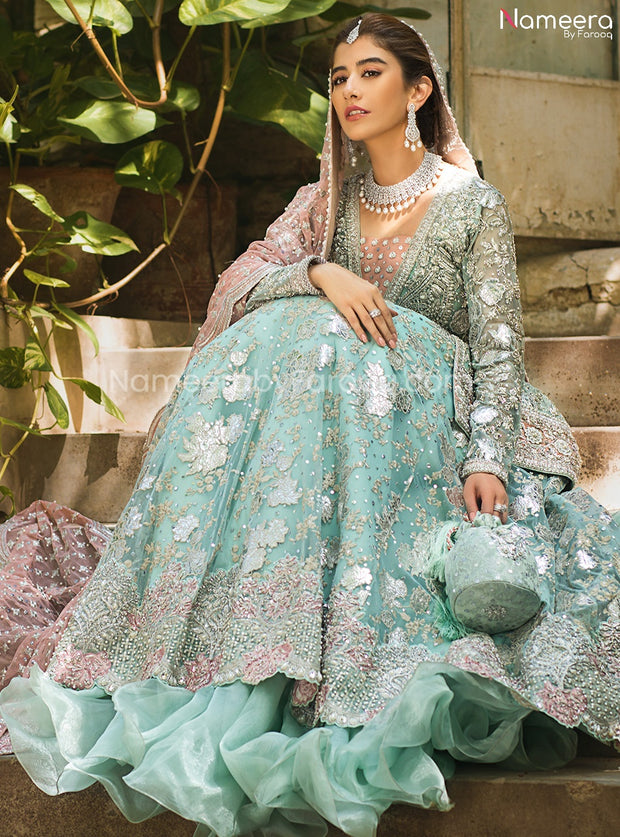 Latest Pakistani Lehenga Design for Walima 2021 Lehenga Look