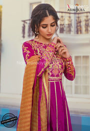 Latest Pakistani Party Wear Suit for Girls 2021 Neckline Embroidery