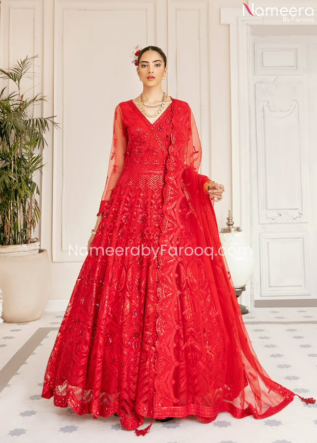Red Maxi Dress Pakistani