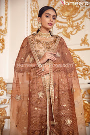 Latest Pakistani Salwar Kameez Online Boutique Dupatta Look