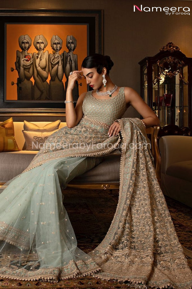 Latest Pakistani Saree Online for Wedding Party