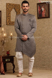 Latest Pakistani Sherwani Designers for Groom Front Look