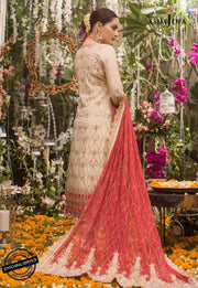 Latest Pakistani Wedding Party Outfit Backside Look