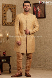 Latest Sherwani Pakistani for Wedding Online Front Look