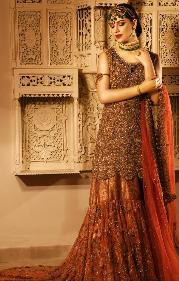 Latest Trail Wedding Lehnga in Orange Red Color