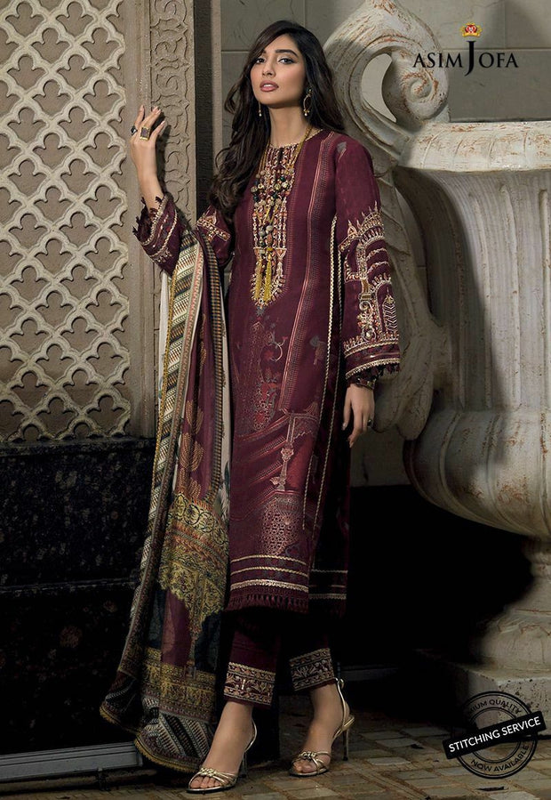 Latest Eid Wear for Women in Maroon Color Front