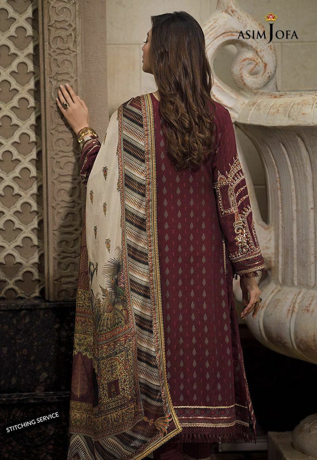 Latest Eid Wear for Women in Maroon Color Backside