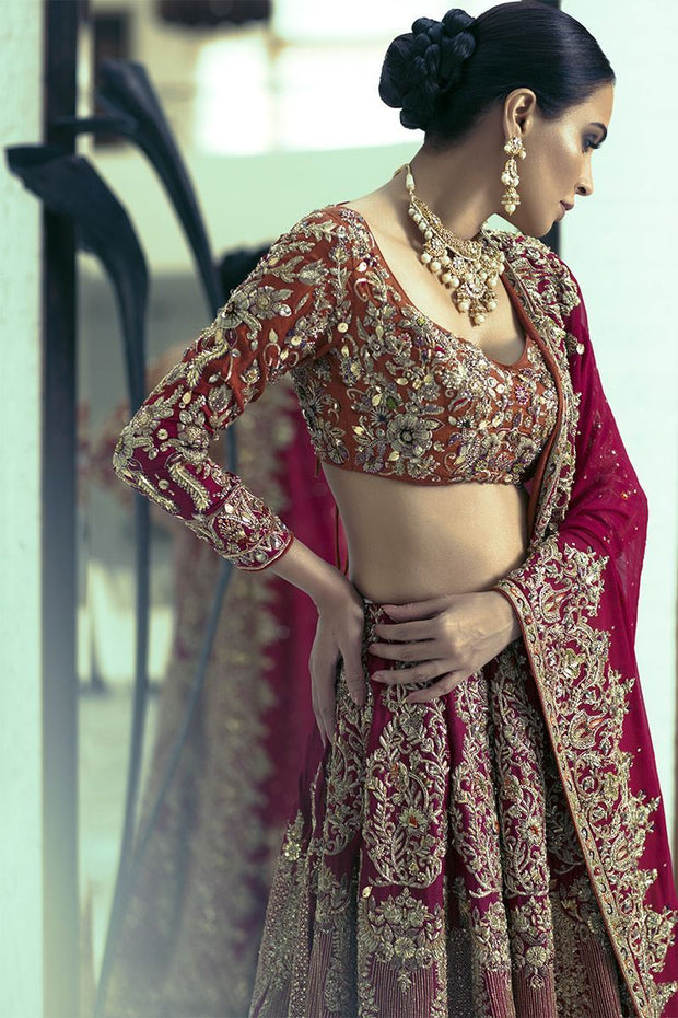 Stunning Full Flared Indian Wedding lehenga 2