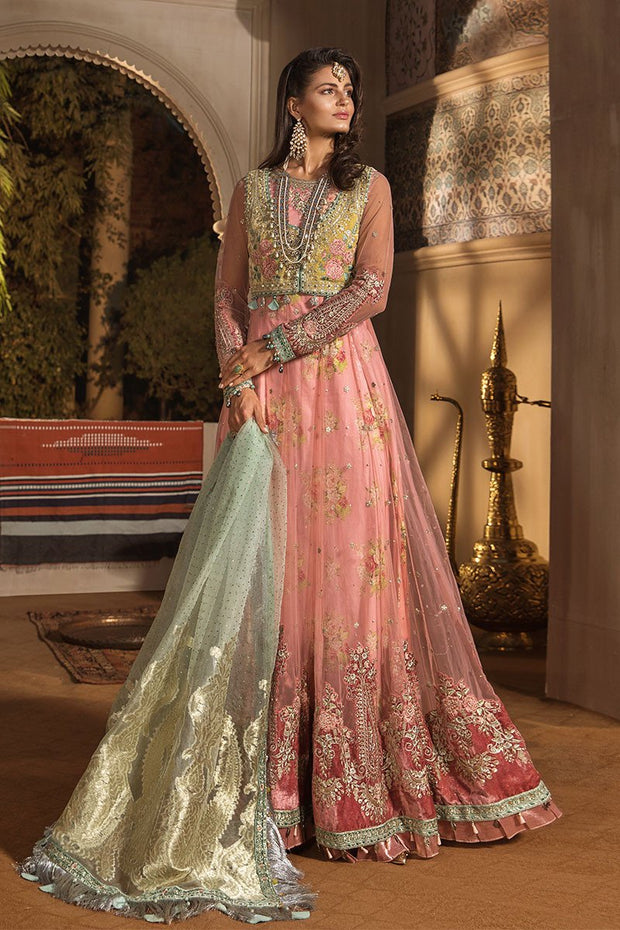 Latest Embroidered Pakistani Designer Dress in Pink Color Dupata View