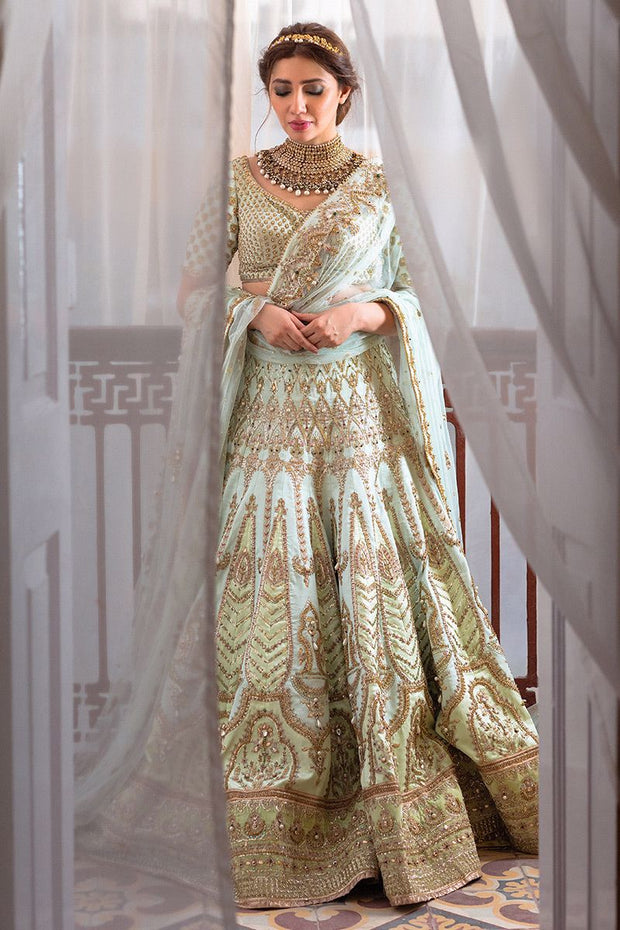 latest silk embellished bridal wear