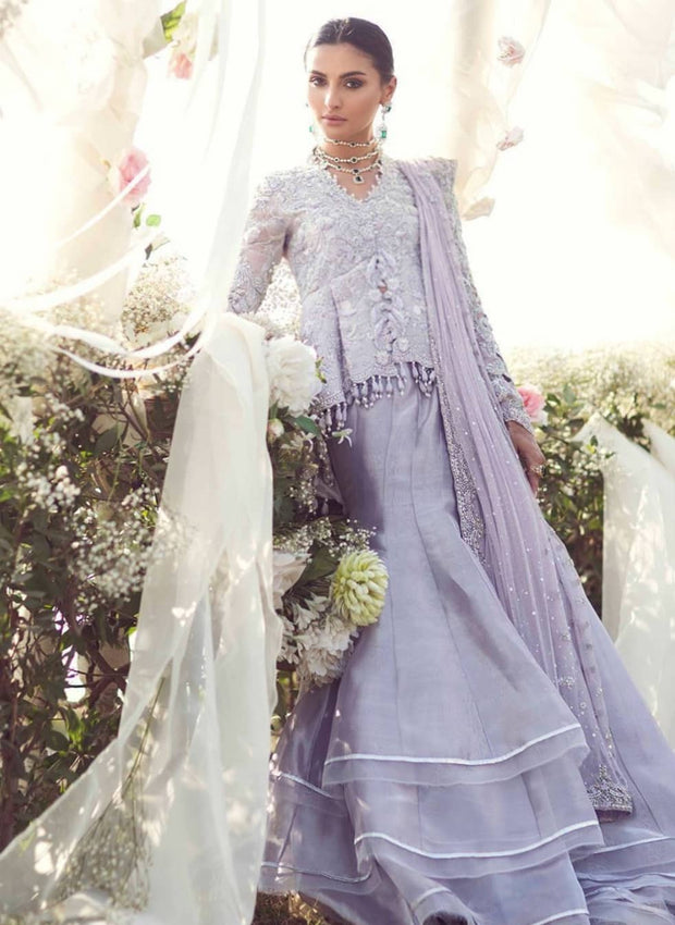 Beautiful Eye catching Indian Lavender lehenga