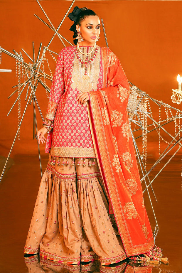 Lawn Gharara Suit for Eid