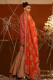 Lawn Gharara Suit for Eid Backside