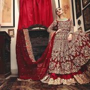 Lehenga with Anarkali Style Asian Bridal Wear 2019
